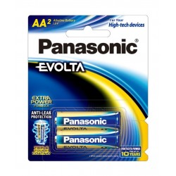 Panasonic Evolta AA Alkaline Battery - Pack of 2 (LR6EG/2B)