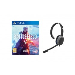 PDP Afterglow LVL1 Chat Headset For PS4 + Battlefield V - PS4 Game