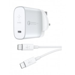 Belkin Boost Charge USB-C Home Charger + Cable with Quick Charge 4+ 3