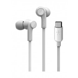 Belkin Rockstar Headphones with USB-C Connector - White