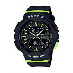 Casio Baby-G Women's Black Ana-Digi Dial Resin Band Sport Watch (BGA-240-1A2DR)