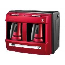 Beko 1200W Double Pot Turkish Coffee Maker (BKK2113P LAL) – Red
