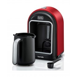 Black+Decker OptiSense 735W Turkish Coffee Maker (TCM700-B5) - Red