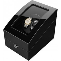2+3 Luxury Black Lacquer Wood Box Automatic Watch Winder