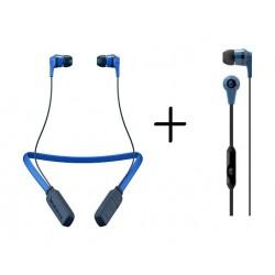 Skullcandy Ink'd Wireless Bluetooth In-Ear Earbuds + Ink'd Wired Earbud Headphones - Street Grey
