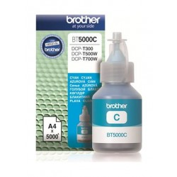 BROTHER Ink BT5000C for Inkjet Printing 5000 Page Yield - Cyan (Single Colour Pack)