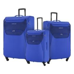 American Tourister Kam Bali Soft Luggage Set - Blue