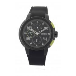 Borelli BMS12500019 Gents Chronograph Watch - Rubber Strap – Black