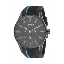 Borelli BMS12500034 Gents Chronograph Watch - Rubber Strap – Black