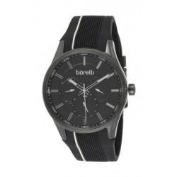 Borelli BMS12500035 Gents Chronograph Watch - Rubber Strap – Black