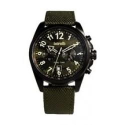 Borelli BMS20047668 Gents Chronograph Watch - Fabric Strap – Green