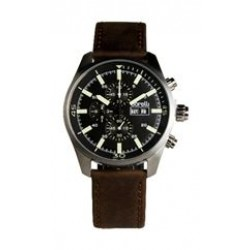Borelli BMS20048713 Gents Chronograph Watch - Leather Strap – Brown