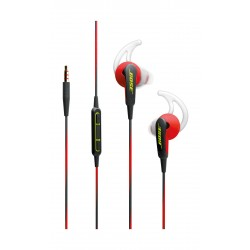 Bose SoundSport In-Ear Wired HeadPhones For Apple/IOS- Power Red