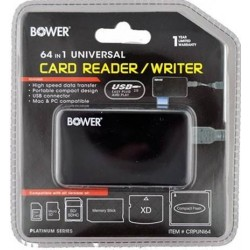Bower CRPUNI64 Universal Digital 64-in-1 Card Reader/Writer