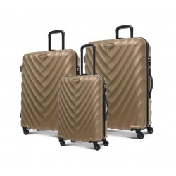 Kamiliant Spinner Set Of 3 Hard Luggage (GD8X23008) - Bronze