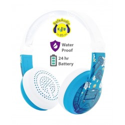 BuddyPhones WAVE Wireless Kids Headphones - Blue