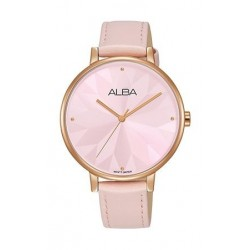 Alba 36mm Analog Ladies Leather Watch (AH8548X1) - Light Pink