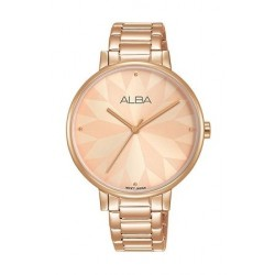Alba 36mm Analog Ladies Metal Watch (AH8538X1) - Rose Gold