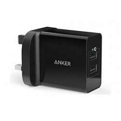 Anker PowerPort 2 Ports Wall Charger - Black