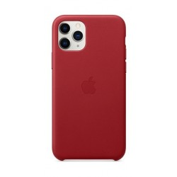 Apple iPhone 11 Pro Leather Case - Red 3