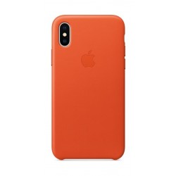 Apple iPhone X Leather Case - Orange 2