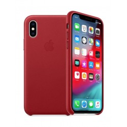 Apple iPhone XS MAX Leather Case - Red 2