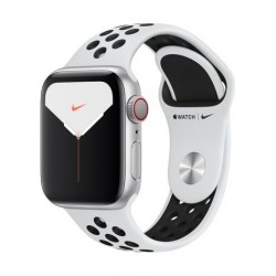 Apple Watch Nike Series 5 GPS 44mm Silver Aluminum with Black Band