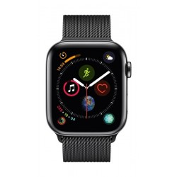 Apple Watch Series 4 GPS + Cellular, 44mm Space Black Stainless Steel Case With Space Black Milanese Loop