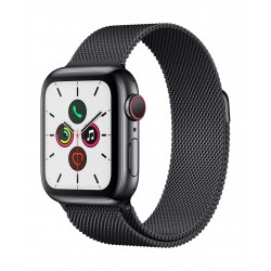 Apple Watch Series 5 GPS+Cellular 40mm Black Stainless Steel Case with Black Loop