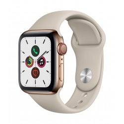 Apple Watch Series 5 GPS+Cellular 40mm Gold Stainless Steel Case with Stone Band