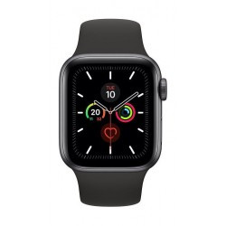 Apple Watch Series 5 GPS+Cellular 40mm Grey Aluminum Case with Black Band