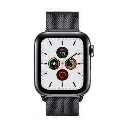 Apple Watch Series 5 GPS+Cellular 44mm Black Stainless Steel Case with Black Loop 2