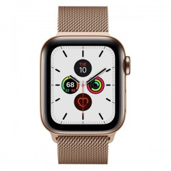Apple Watch Series 5 GPS+Cellular 44mm Gold Stainless Steel Case with Milanese Loop