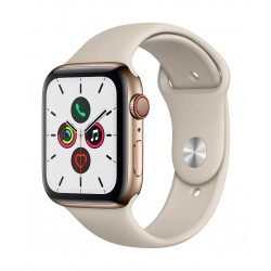 Apple Watch Series 5 GPS+Cellular 44mm Gold Stainless Steel Case with Stone Sport Band