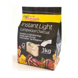 Bar-Be-Quick Instant Light Lumpwood Charcoal - 3Kg