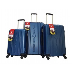 Beverly Hills Polo Club Unity Hard Luggage 3 Piece Set - Navy