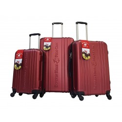 Beverly Hills Polo Club Unity Hard Luggage 3 Piece Set - Red