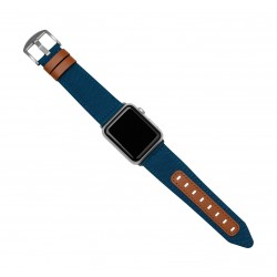 Evutec Northill Watch Band for Apple Watch 42mm - Blue Saddle