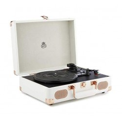 GPO Soho Vinyl Turntable + Built-in Speaker  - Cream