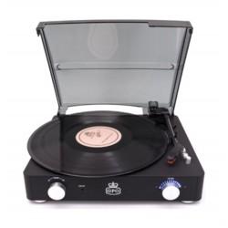 GPO Stylo II Vinyl Record Player - Black