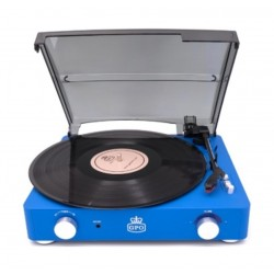 GPO Stylo II Vinyl Record Player - Blue