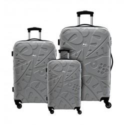 Kamiliant Pinnado 55+67+77cm Hard Luggage (AB0X88007) - Grey