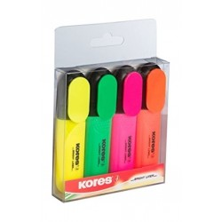 Kores Highlighter 4pcs
