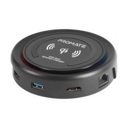 Promate CenterHub All-in-One USB-C Hub - Black