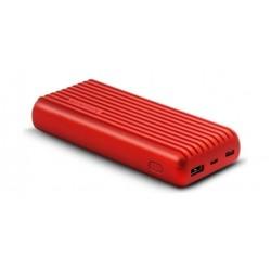 Promate Titan-20C 20000mAh High-Capacity Power Bank - Red