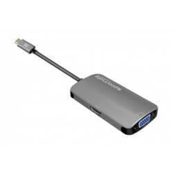 Promate UNIHUB-C4 USB-C to HDMI VGA Adapter - Grey