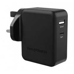 RAVPower Dual-Port Wall Charger - Black