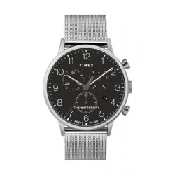 Timex Waterbury Classic Chronograph 40mm Stainless Steel Mesh Band Watch - TW2T36600