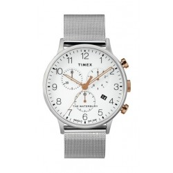 Timex Waterbury Classic Chronograph 40mm Stainless Steel Mesh Band Watch - TW2T36700