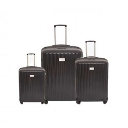 US Polo Calypso Set Of 3 Hard Luggage - Black